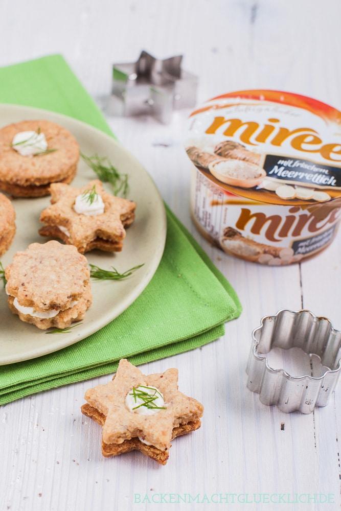 Pikante Frischkäse-Kekse