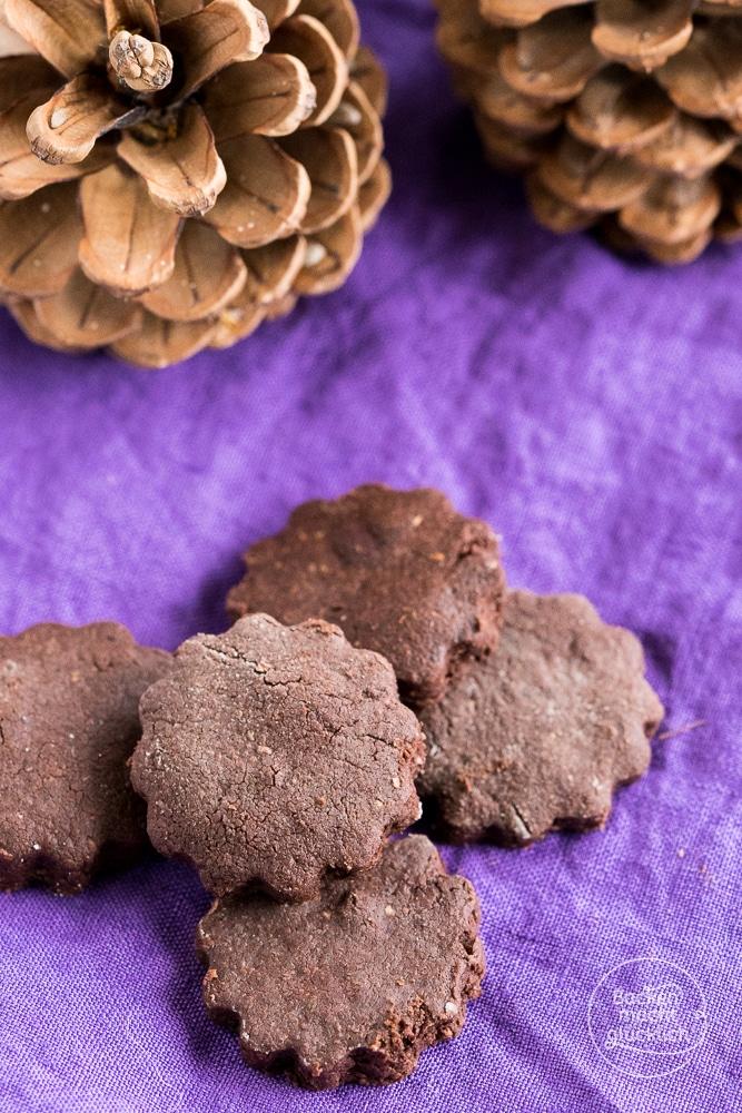 Vegane Schokocookies Ausstechplätzchen