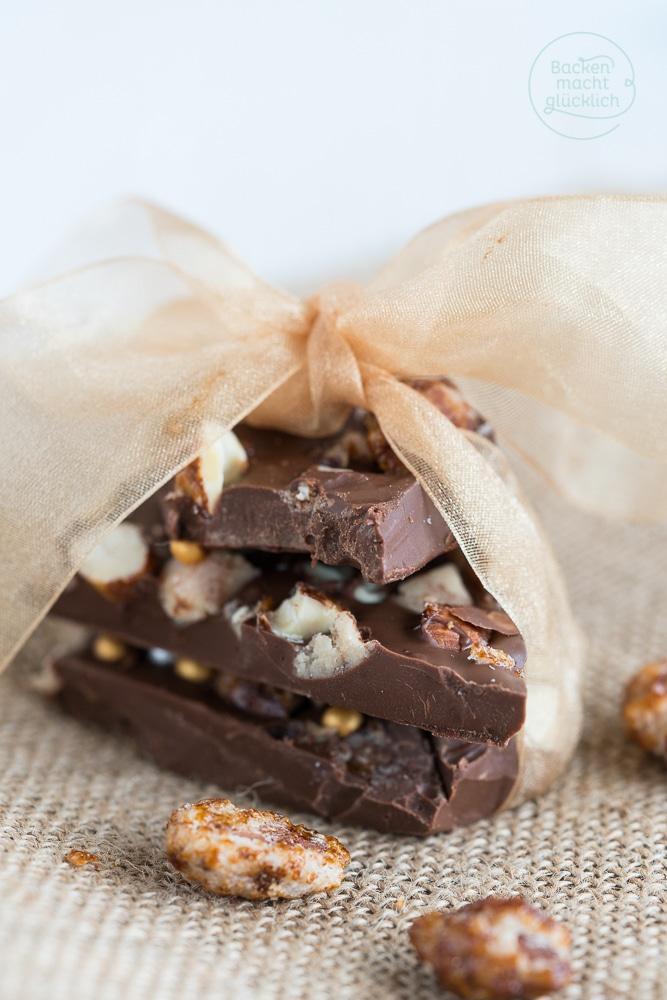 Selbstgestaltete Schokoladentafeln Rezept