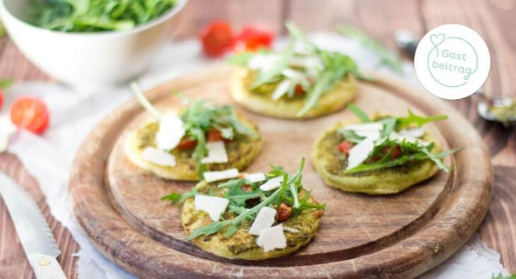 Vegetarische Mini-Pizzen Rezept