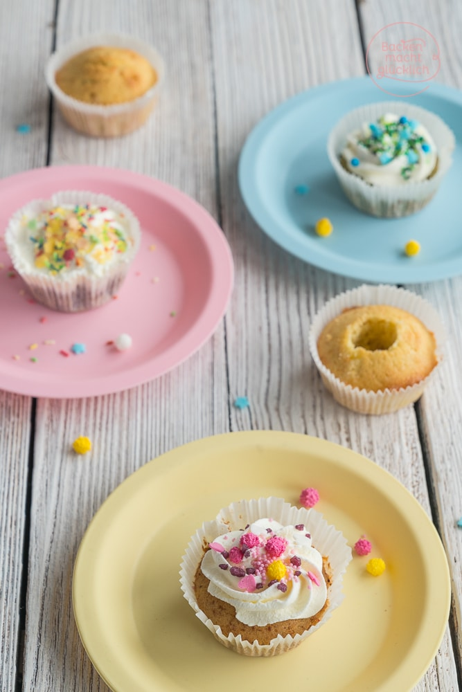 Geburtstagscupcakes Rezept