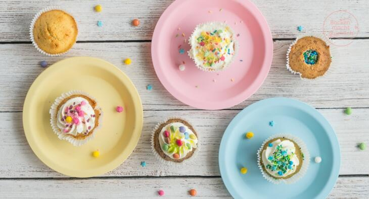 Geburtstags-Cupcakes mit Überraschung