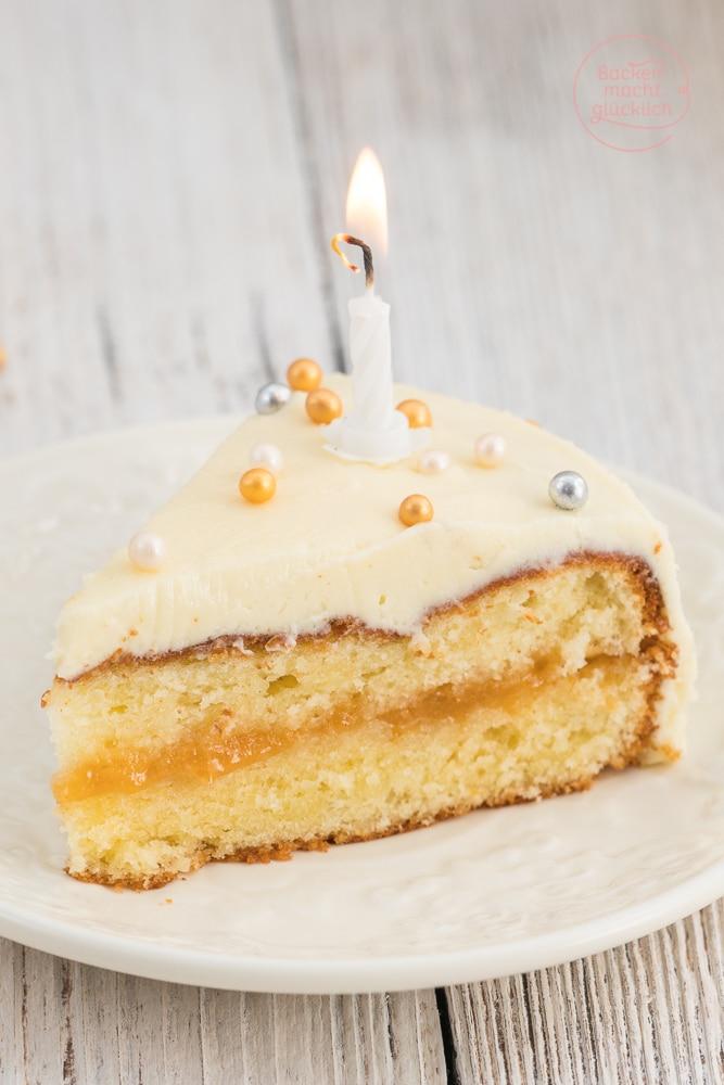 Geburtstagstorte mit weißer Schokolade
