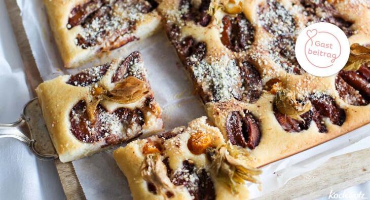 Glutenfreier veganer Obstkuchen
