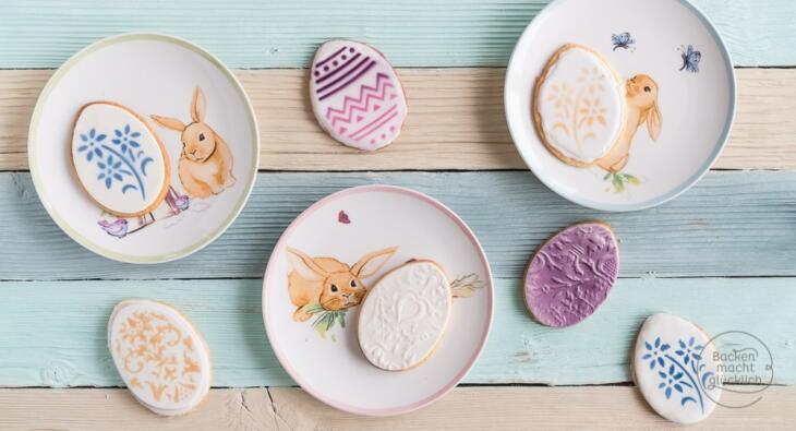 Ostereier Kekse verzieren mit Fondant Airbrush