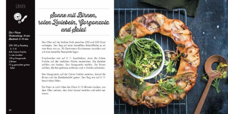 Buch Pizzablumen Pinwheels