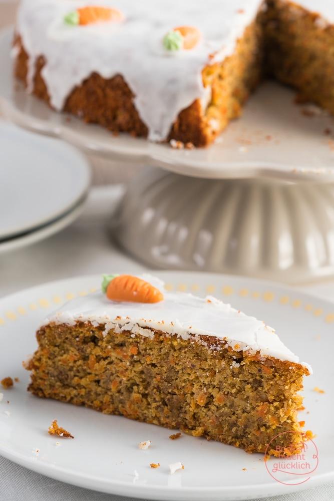 Saftiger Karottenkuchen Fur Ostern Backen Macht Glucklich