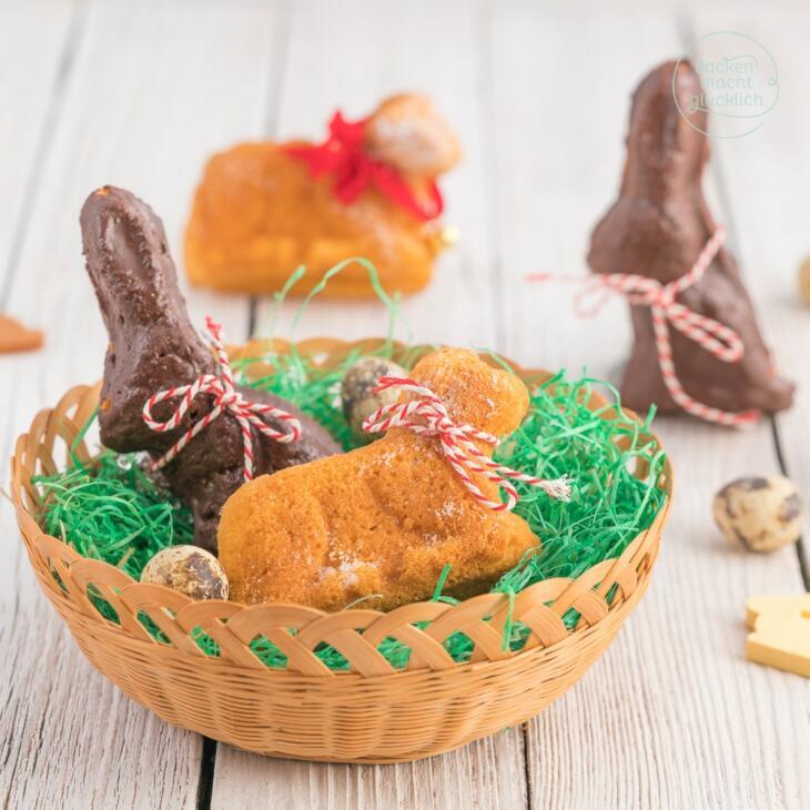 Osterlämmchen aus Rührteig