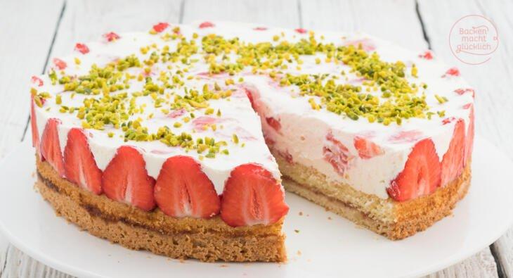 Erdbeer Sahne Torte Backen Macht Glucklich