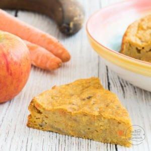 Gesunder Apfel Möhren Kuchen ohne Zucker