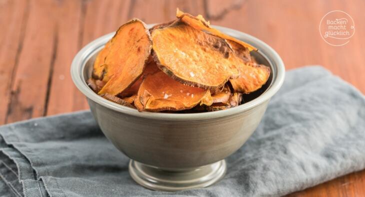Süßkartoffel Chips Backofen Rezept