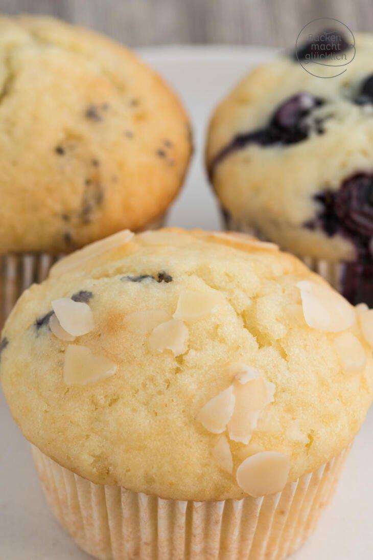 Einfache saftige Muffins Grundrezept