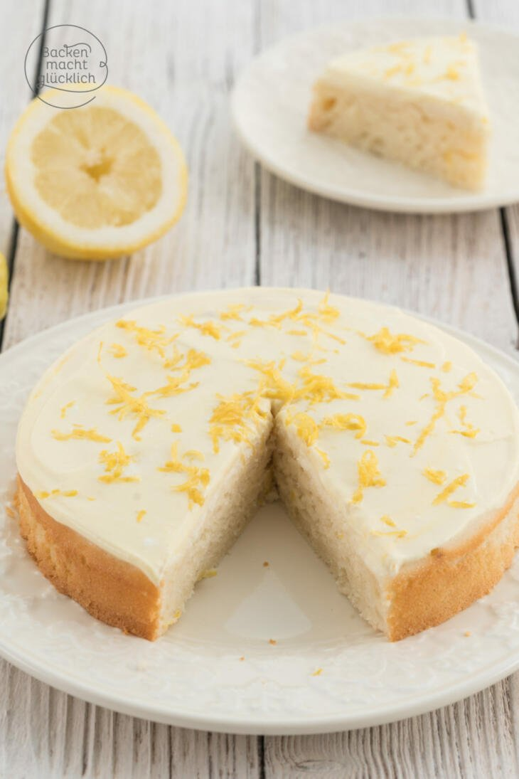 Zuckerfreier Zitronenkuchen ohne Fett