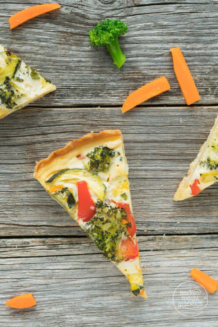 Gemüsequiche vegetarisch