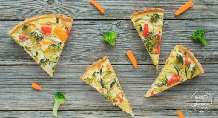 Vegetarische Gemüsequiche Rezept