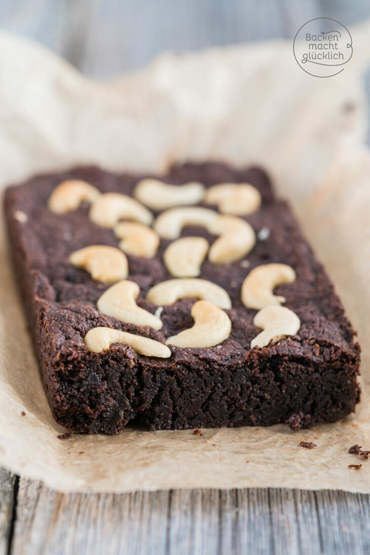 Vegane brownies ohne Mehl, Butter, Ei