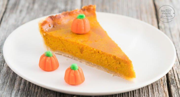 Pumpkin Pie Kurbiskuchen Backen Macht Glucklich