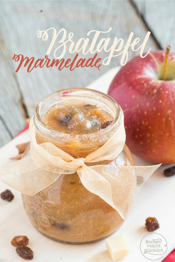Bratapfel-Marmelade mit Zimt
