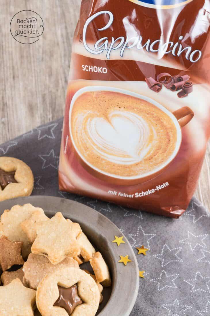 Cappuccino Kekse Nougatfüllung