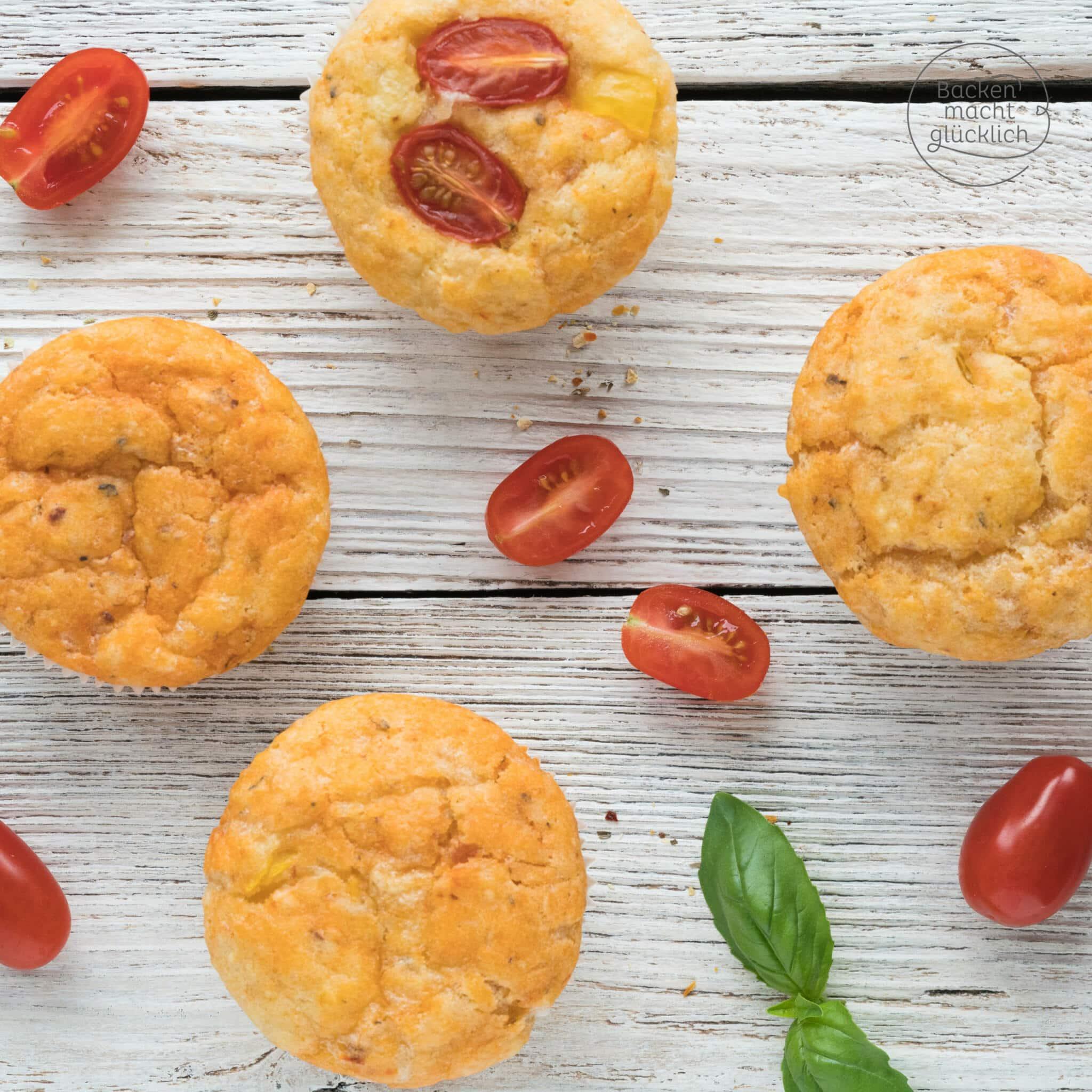 Schnelle einfache Pizzamuffins