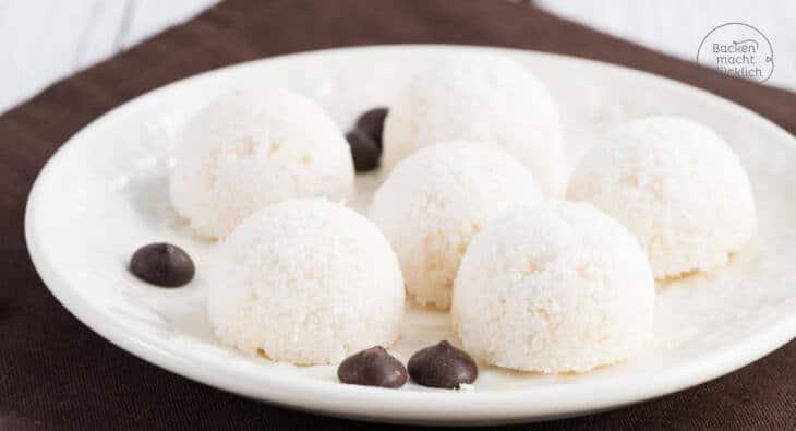 Vegane Kokos Makronen ohne Ei