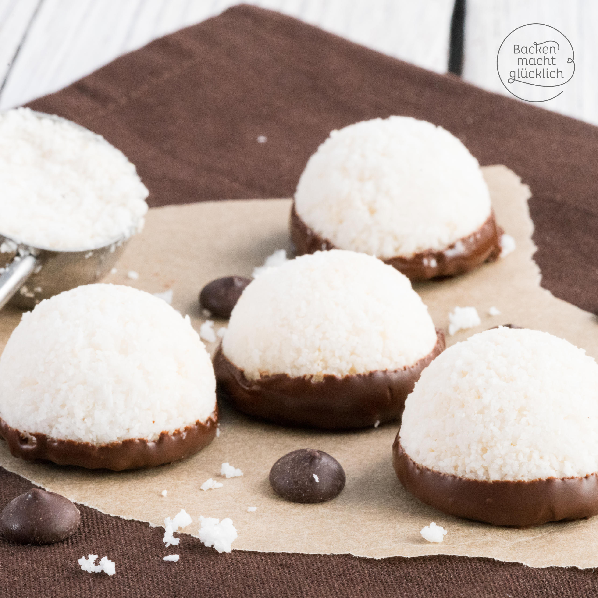 Vegane Kokosmakronen aus 3 Zutaten