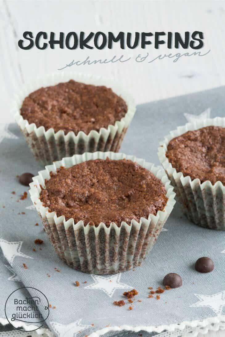 Vegane Schokoladenmuffins