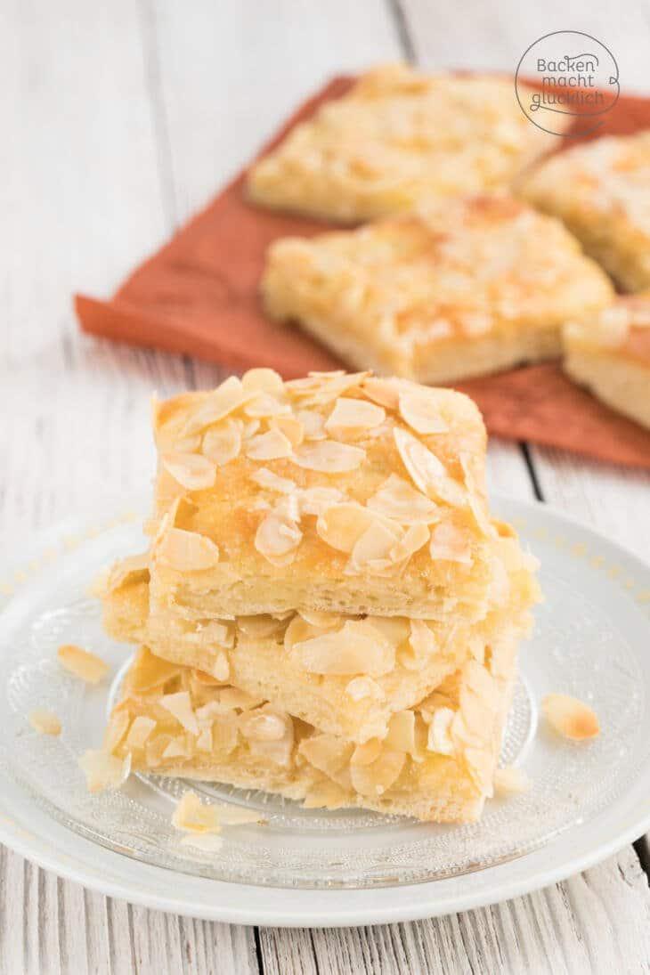Butterkuchen mit Sahne Mandeln