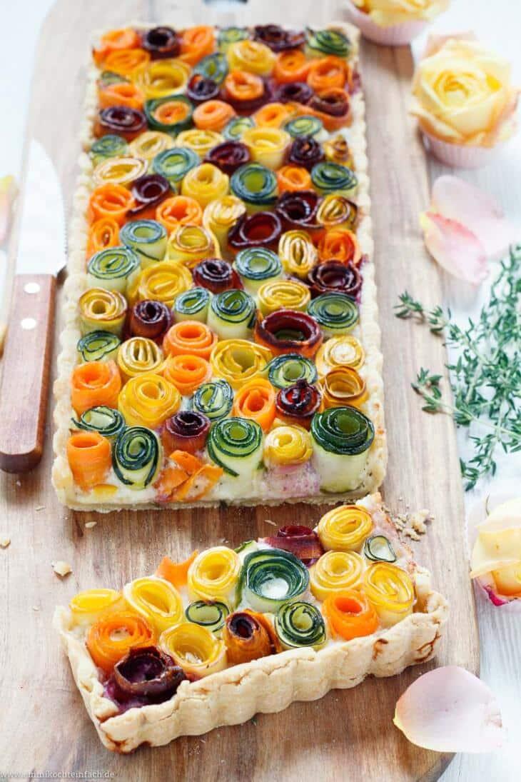 Gemüseröschen Tarte