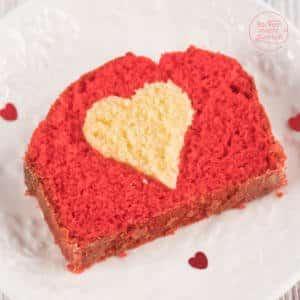 Muttertag Kuchen mit Herz innen