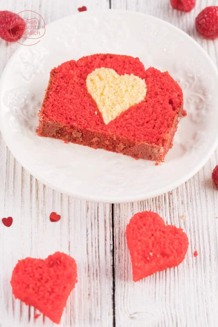 Muttertag einfacher Herzkuchen
