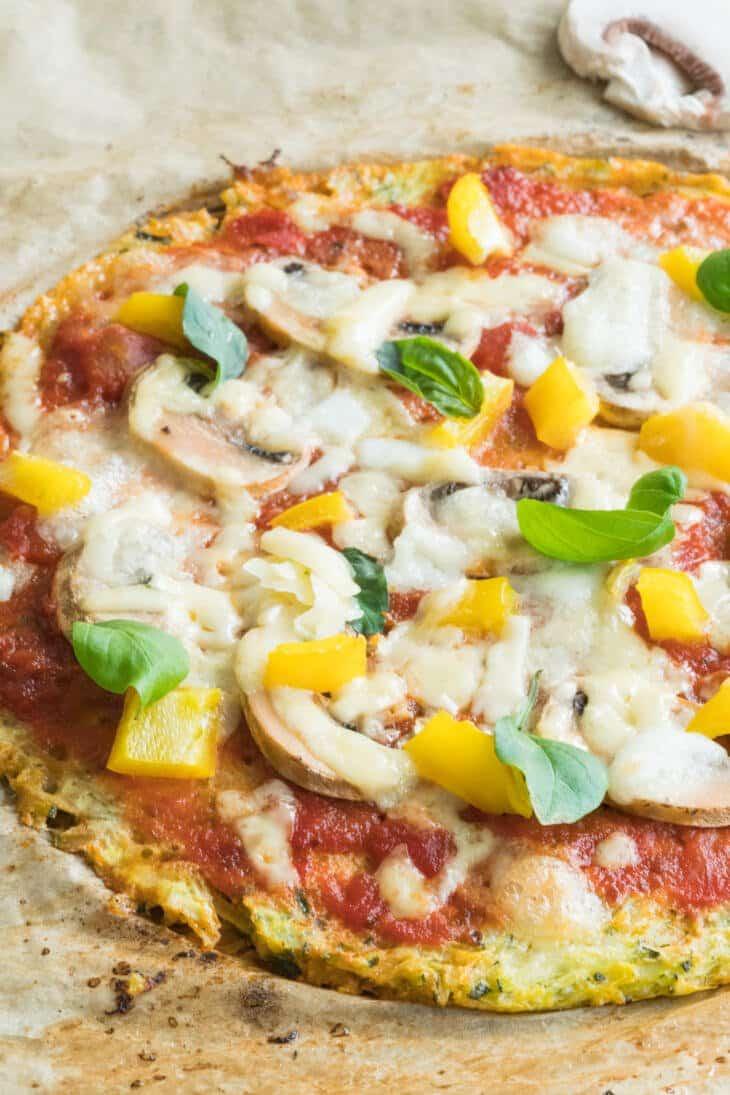 Zucchinipizza low carb Rezept