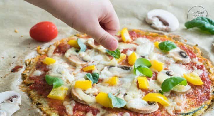 Zucchinipizza low carb