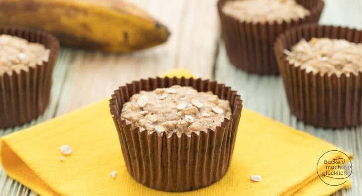 Bananen Haferflocken Muffins Ohne Zucker Backen Macht Glucklich