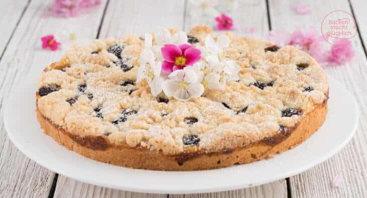 Butterstreuselkuchen mit Pudding
