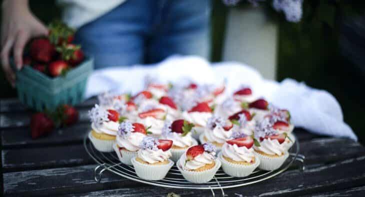 Erdbeercupcakes mit Mascarpone