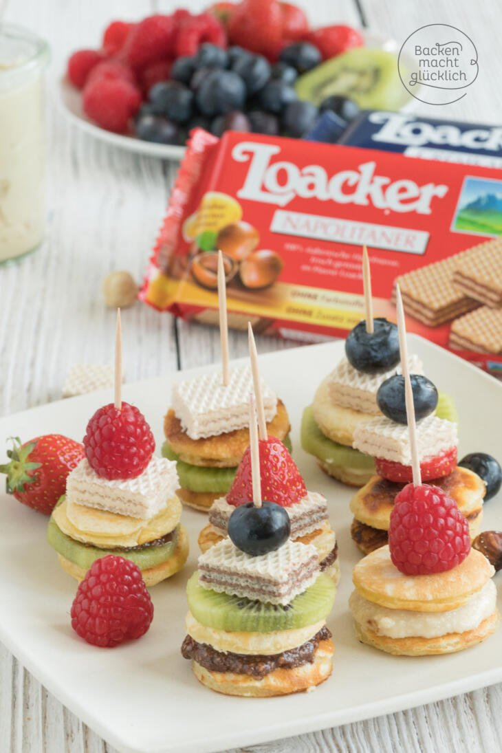 Kinderparty Snack Pancakespiesse