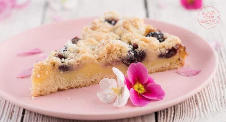 Pudding Streusel Kuchen Mit Kirschen Backen Macht Glucklich