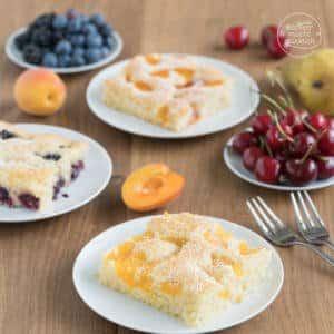 einfacher Obstkuchen vom Blech