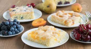 Schneller einfacher Obstkuchen vom Blech
