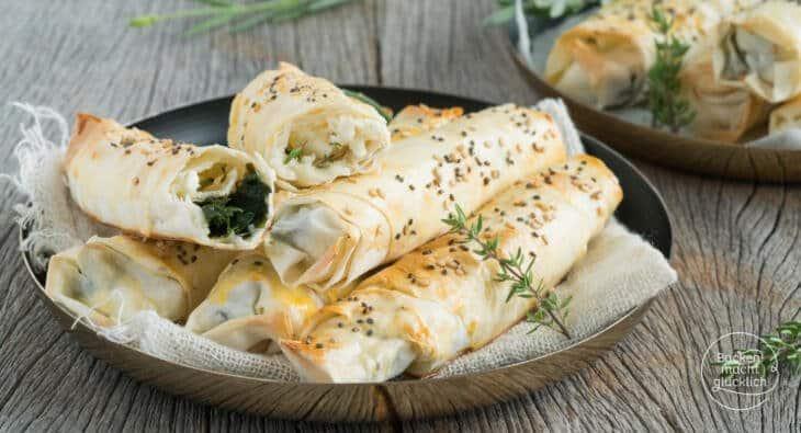 Börek mit Käse und Spinat