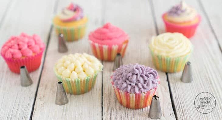 Cupcakes verzieren mit Spritzbeutel