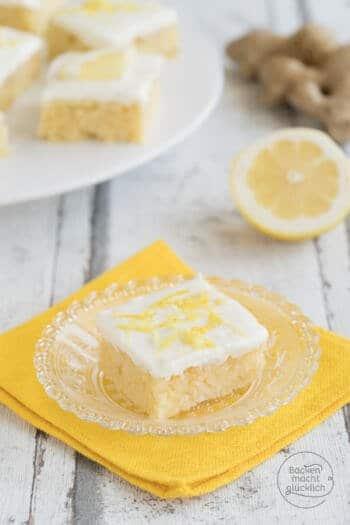 Zitronen-Ingwerkuchen mit frischem Ingwer