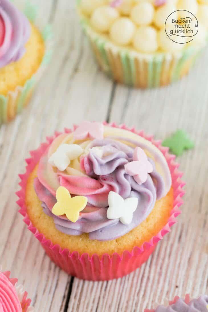 Rainbow Cupcakes Anleitung