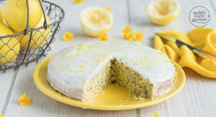 Zitronenkuchen Mit Mohn