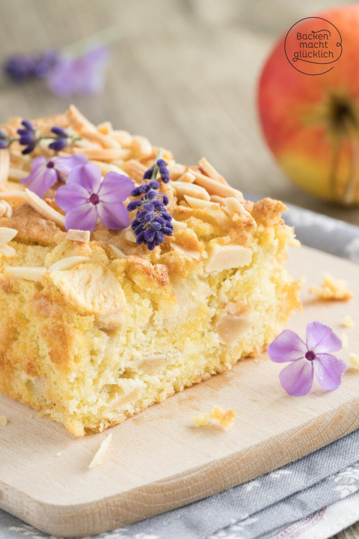 Schneller Apfelkuchen ohne Zucker und Mehl