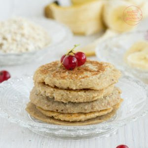 Vegane 3 Zutaten Pancakes