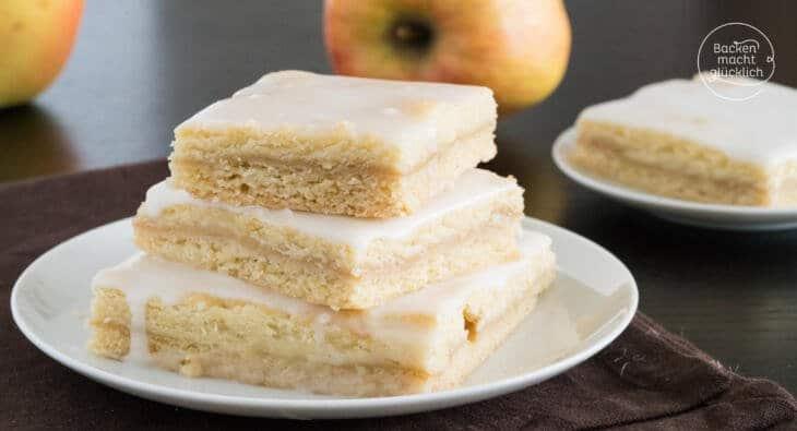 Apfelkuchen mit Apfelmus vom Blech
