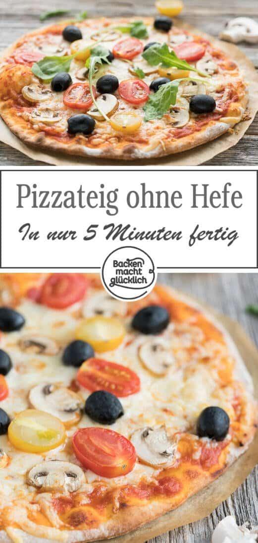 Top Schneller Pizzateig ohne Hefe | Backen macht glücklich GR11