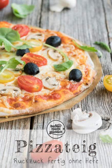 Hervorragend Schneller Pizzateig ohne Hefe | Backen macht glücklich OZ11